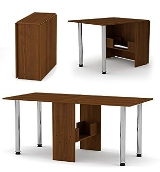 Rodnik Klappbarer Tisch 374 Klapptisch Nuss Mit Chromefüßen   Küchentisch    Doppelklappentisch   Esstisch   Funktionstisch