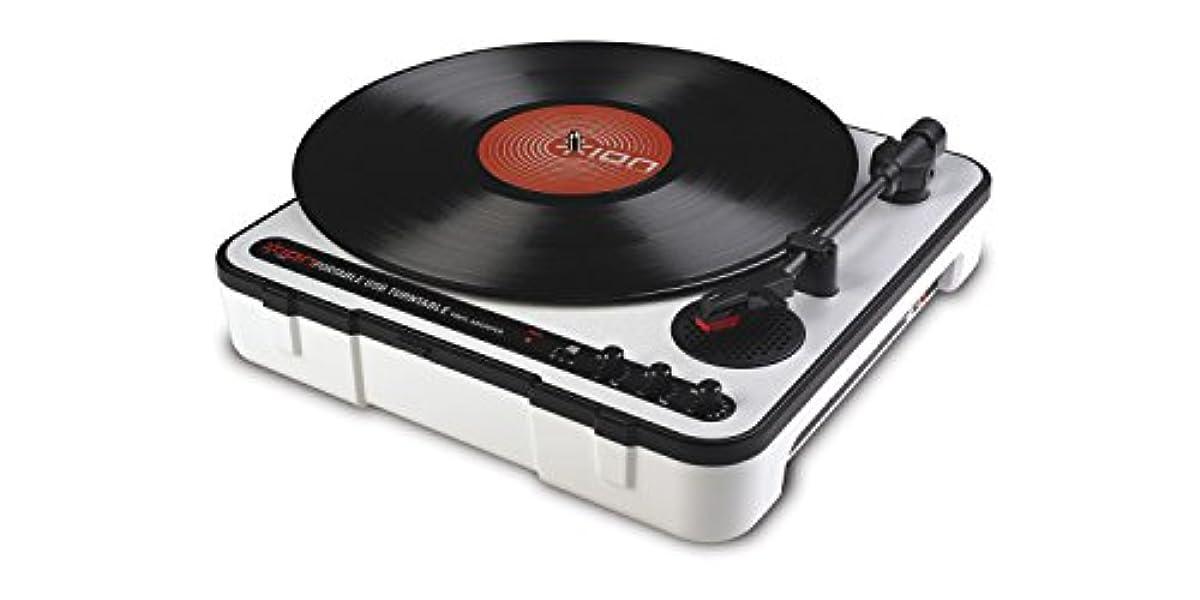 [해외] ION AUDIO MOBILE LP 레코드 플레이어 전지 구동 USB단자