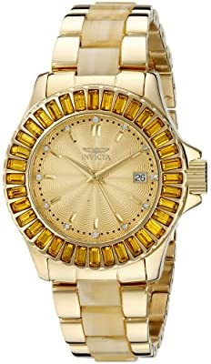 Invicta Women s 17941 Angel Analog Display Swiss Quartz Two Tone Watch