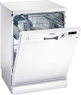 Siemens 5 Programs 12 Place settings Free standing Dishwasher, White - SN215W10BM