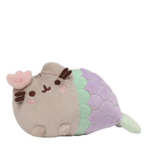GUND Pusheen Mermaid Clam Shell Cat Plush Stuffed Animal, Multicolor, 7