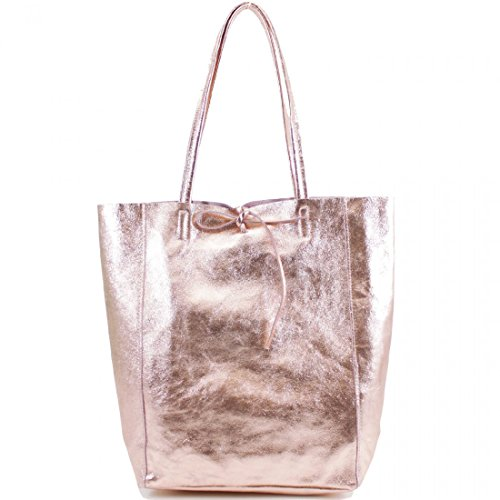 Rose Italian Ladies Women Leather Italian Handbags Gold London Open Genuine Handbag Real Leather Craze Top Shoppers 5fwt60gnxx