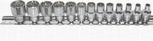 """T & E Tools 1/4"""" Drive Metric 13Pc. Multi-Lock Spline Socket Set"""