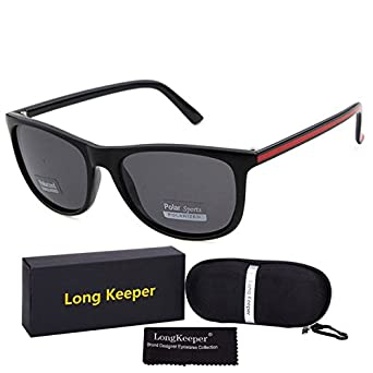 c84e5493298 Lepakshi C3 E  Longkeeper Polarized Sunglasses Women Men Square Glasses  Uv400 Protection Driving Eyewear Gafas With Case And Gift Box  Amazon.in   Clothing   ...