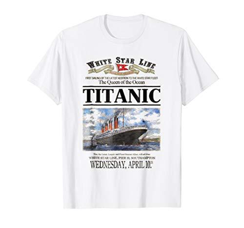 (Titanic Shirt Vintage Ship Atlantic Ocean Voyage Poster)