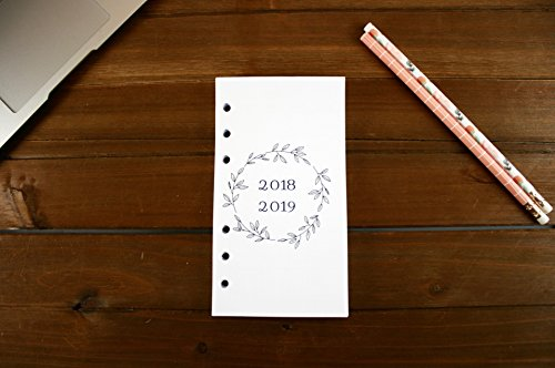 Personal Size 18 Month 2018-2019 Montly Refills (Dated JULY 2018-DECEMBER 2019), Personal Filofax 2018 Refill Pages, Personal Monthly Refills, Color Crush, Kate Spade 18 Month Calender Refill by FeroniArt