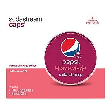 SodaStream - Pepsi HomeMade Drink Mix Caps, Wild Cherry, 4 count  (Pack of  4)