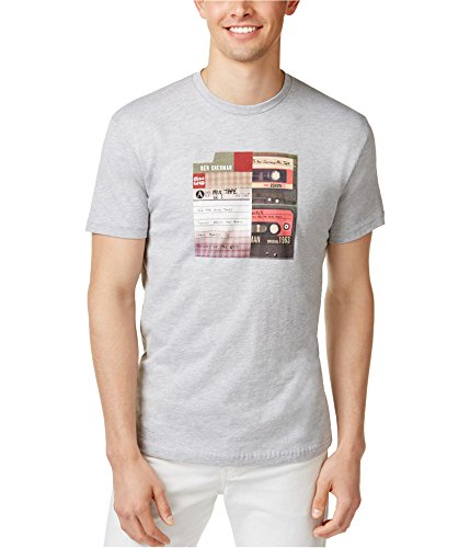 Ben Sherman Mens Mix Tape Graphic T-Shirt, Grey, Large