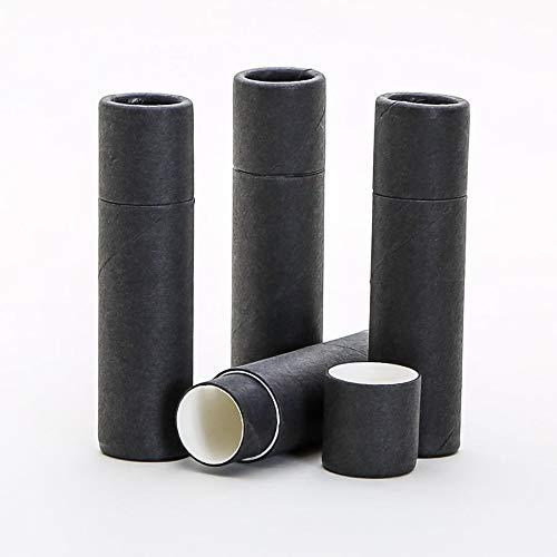 6 mL Black Kraft Paperboard Lip Balm/Salve/Cosmetic/Lotion Tubes x300