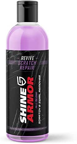 Shine Armor Revive Scratch Swirl Remover & Repair – Paint Remover for Marks, Scuff, Blemish, Scratch Removal – Water Spots, Hairline Polish Car Care Auto Detail Restorer