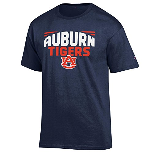 NCAA Champion Men's Push Ahead Short sleeve T-Shirt Auburn Tigers X-Large