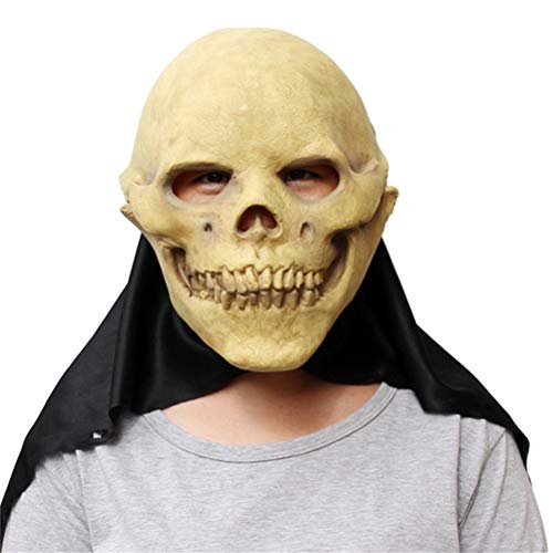 Halloween Egyptian Skull Mask Creepy Haunted House Prop Scary Zombie Face Trick Cosplay Fun Game