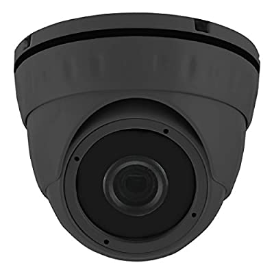 HDView 2.4MP 4-in-1 HD (TVI/AHD/CVI/960H) 1080P Outdoor SONY Sensor Wide Angle 2.8mm Lens Black Film Technology Better IR Night Vision Turbo Platinum Dome Camera Grey from HDView