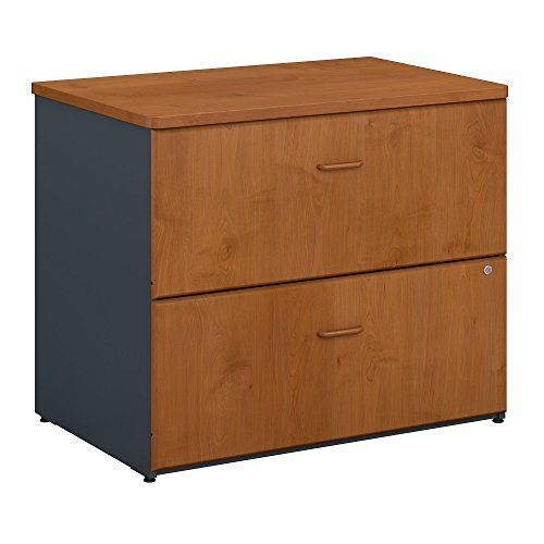 Bush Business Furniture WC57454PSU Series A Lateral File Cabinet, 36W, Natural Cherry/Slate ()