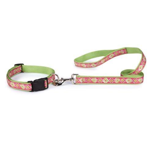 Zack & Zoey Nylon Brite Diamond Dog Lead with Nickel-Plated Swivel Clip, 6-Feet, Green by Zack & Zoey (Diamonds Nylon Brite Zoey)