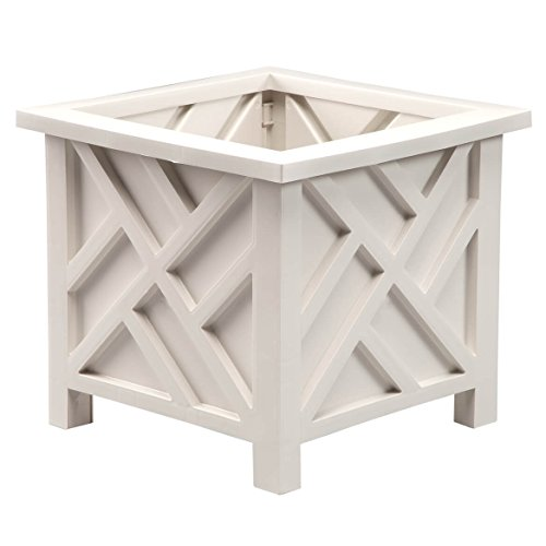 Miles Kimball 329156 Chippendale Planter Box, Plant Holder for Patio and Lawn, 14 ¾