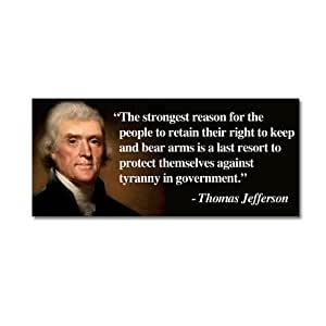 Amazon Com Thomas Jefferson Magnet Right To Bear Arms