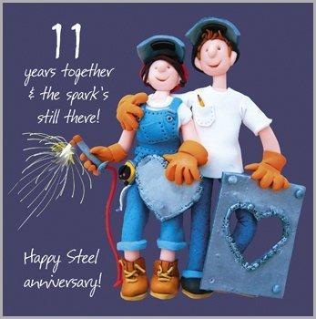 11th Wedding Anniversary Card Amazon Kitchen Home