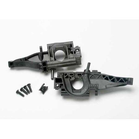 Traxxas Bulkhead, Rear (L&R Halves)/ diff Retainer, Rear/ 4x14mm BCS (2) (Lr Bulkhead)
