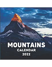 Mountains Calendar 2022: Mountains Lover Gift Idea | January 2022 - December 2022 Square Photo Calendar Present For Men & Women | Scenic Photo Book Monthly Planner With CA Canadian Holidays