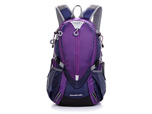 ハイキングメンズレディーススポーツアウトドア防水バックパックハイキング登山アウトドア旅行用のバッグ(パープル)   B07FDYJBH3
