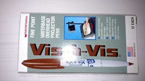 newell-brown-ink-vis-a-vis-wet-erase-overhead-transparency-marker-fine-point
