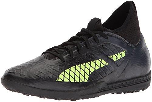 Tt Football New - PUMA Men's Future 18.3 TT Soccer-Shoes, Puma Black-Fizzy Yellow-Asphalt, 11.5 M US