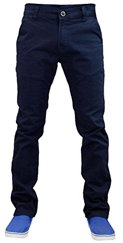New Mens Designer Jack south Stretch Slim fit Chino Straight Leg Trousers Pants Farbig