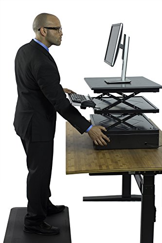 Uncaged Ergonomics Electric Change Desk, Height Adjustable Standing Desk Converter, Ergonomic Stand Up Desk Conversion Kit (CDE-b) by Uncaged Ergonomics (Image #2)