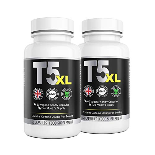 T5 XL Fat Burner for Men and Women |120 Capsules 4 Month Supply | High Quality Supplement |Vegan Friendly | UK…