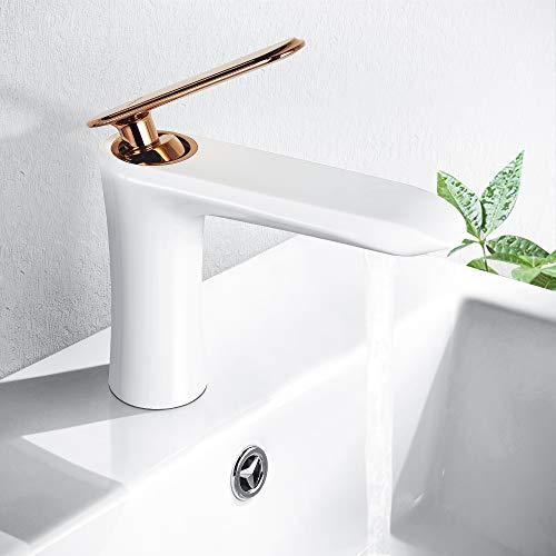 white lavatory faucet - 8