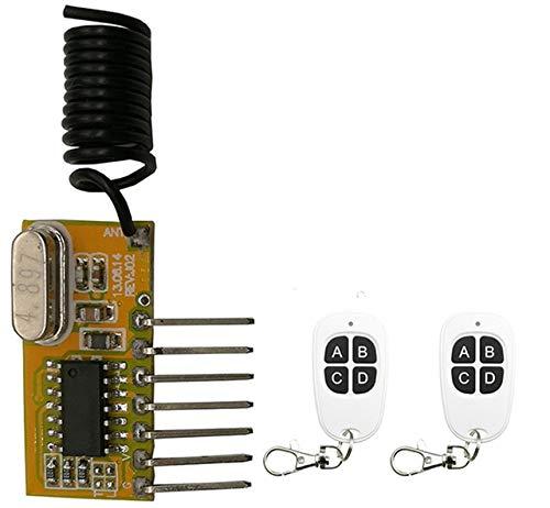Module Shutter - Calvas RF Wireless Receiver Module DC5V 4CH Mini Super-heterodyne Receiver Module shutters/Garage Door/lamp/window - (Color: B)