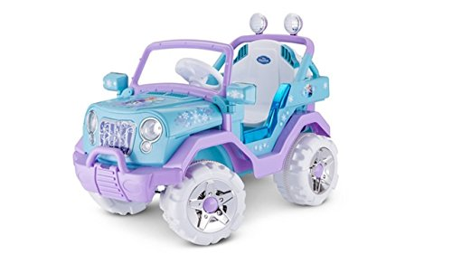 (Disney Frozen 4X4 Jeep 6V KT1205 Ride On, Blue)