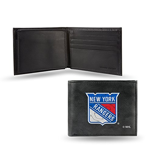 Rico Industries NHL New York Rangers Embroidered Leather Billfold Wallet