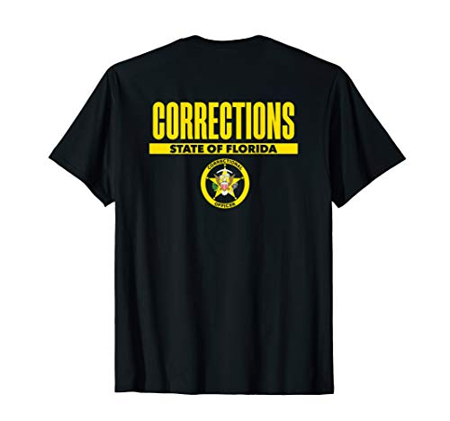 Florida Correctional Officer Thin Gray Line Flag T-Shirt -