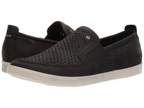 ECCO(エコー) メンズ 男性用 シューズ 靴 スニーカー 運動靴 Collin Perf Slip-On - Black [並行輸入品] B07BLSN7Y2