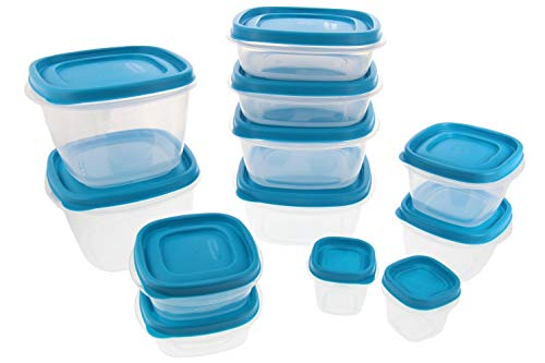 - Rubbermaid Food Storage Containers w/Easy Find Lids System - Stain Resistant BPA-Free Tritan Plastic - Great for Storing Leftovers & Staples - 24 Piece Set - Blue