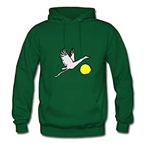 X-large Crane Over Sun Designed And Let You Handle It Creative Women Green Hoodies