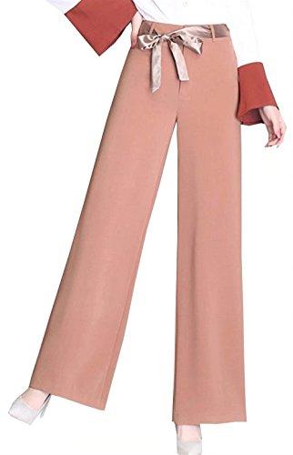 Pantalones Joven Cinturón Tela Elastische De Baggy Rectos Taille Media  Largos Hipster Delgado Sólido Cómodo Cintura Bastante Verano Color ... 55b7b47d0185