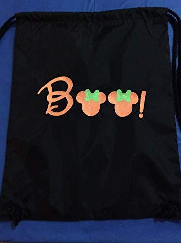 Handmade Disney Drawstring Backpack Boo Trick or Treat Bag Mickey's Not so Scary Halloween]()