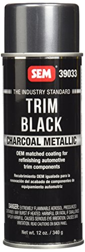 Dark Charcoal Paint Metallic - SEM 39033 Charcoal Trim Metallic Aerosol - 12 oz.