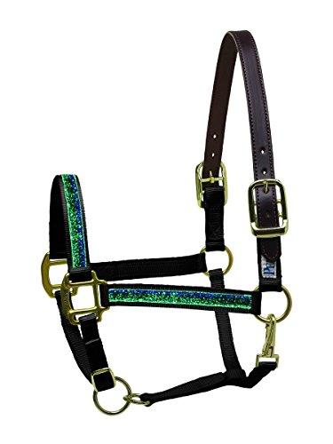 Ribbon Safety Halter Horse (Perri's Nylon Safety Horse Sparkle Ribbon Halter, Blackburn)