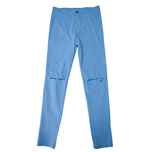 Femme Bold Mode Printemps Fille Dchire Loisir Denim Longue Trou Bleu Slim Pantalon Casual Jeans Crayon Manner Confort Collant Pants Elastique Legging AOtHqAxw