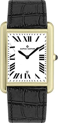 Alpha Saphir Reloj Analógico para Hombre de Cuarzo con Correa en Piel TE110-2