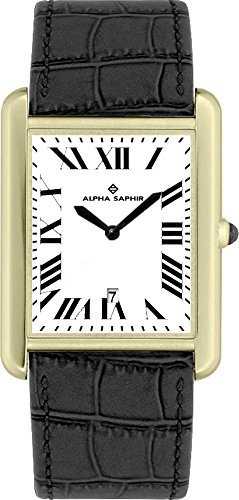 Alpha Saphir Reloj Analógico para Hombre de Cuarzo con Correa en Piel TE110-2: Amazon.es: Relojes