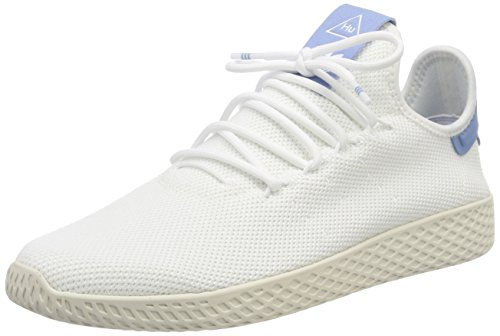 adidas Women's Pw Tennis Hu Gymnastics Shoes, Bianco Off White (Ftwr White/Ftwr White/Chalkwhite)