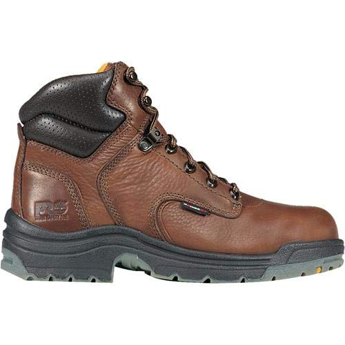 Timberland PRO Titan 6 Safety Toe Leather Work Boot Mens Size: 10.5 Wide Coffee