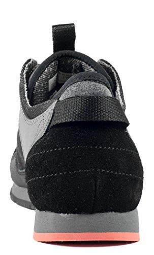 Svigte Lewis - Mænds Afslappet Læder / Canvas Sneaker Sort Si0TY