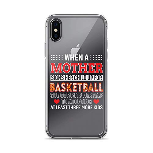iPhone X/XS Pure Anti-Shock Clear Case Mom Signs Child Up Basketball and Adopting at Least 3 Kids