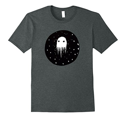 Mens Melting Ghost In Space T-Shirt 3XL Dark Heather